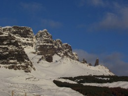 The Old Man of Storr in winter snowscape